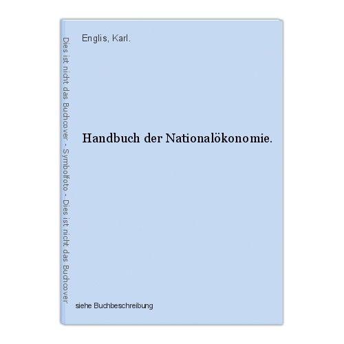 Handbuch der Nationalökonomie. Englis, Karl.