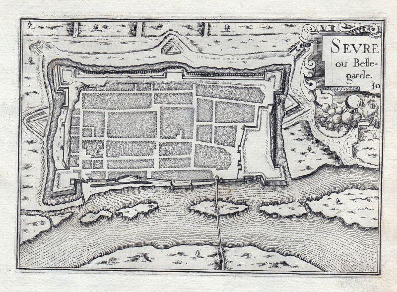 1630 Sevre Bellegarde Frankreich France gravure estampe Kupferstich Tassin