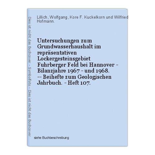 Untersuchungen zum Grundwasserhaushalt im repräsentativen Lockergesteinsgebiet F 0