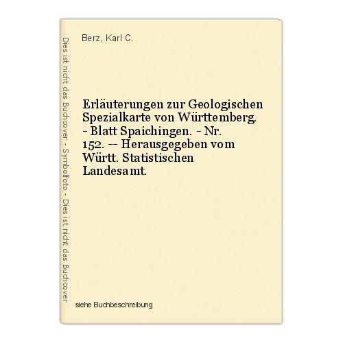Erläuterungen zur Geologischen Spezialkarte von Württemberg. - Blatt Spaichingen