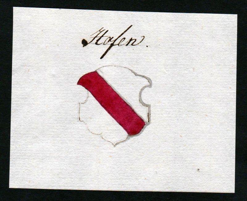 18. Jh. Hofen Hof Handschrift Manuskript Wappen manuscript coat of arms