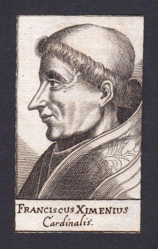 17. Jh. Francesco Zabarella cardinal Kardinal Padua Italien Portrait Kupferstich