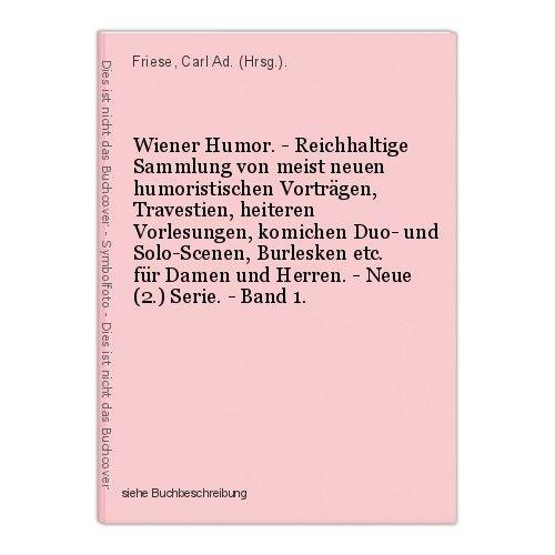 Wiener Humor. - Reichhaltige Sammlung von meist neuen humoristischen Vortr 39937