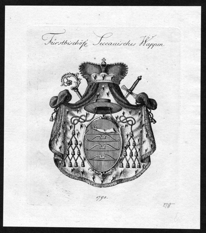 1790 - Sekau Wappen Adel coat of arms heraldry Heraldik Kupferstich 0