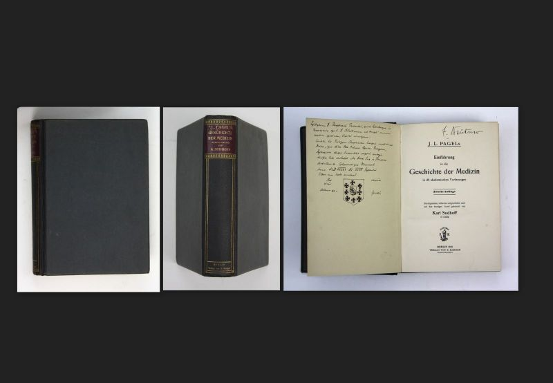 1915 J.L. Pagel Karl Sudhoff Einführung in die Geschichte der Medizin Auflage 2