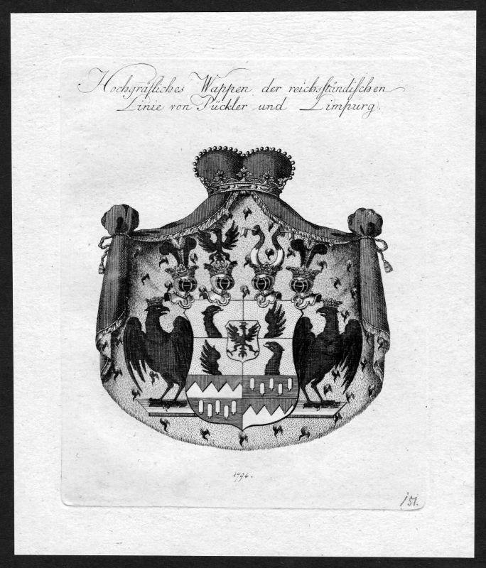 1790 - Pückler Pueckler Limburg Wappen Adel coat of arms heraldry Heraldik 0