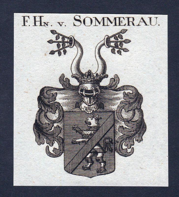 Sommerau Rheinland-Pfalz Wappen Adel coat of arms Heraldik Kupferstich engraving