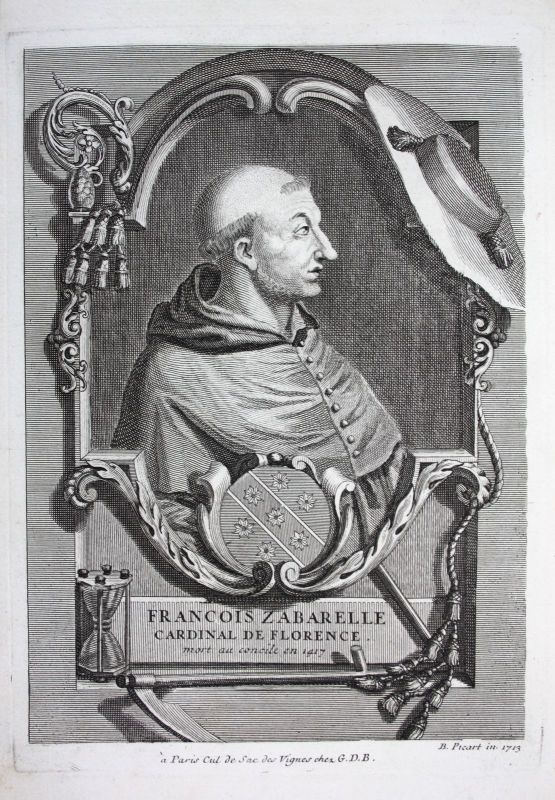 18. Jh. Francesco Zabarella Kardinal Erzbischof Firenze Florenz Italien Portrait