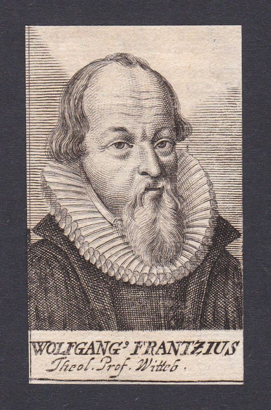 1680 Wolfgang Franz / theologian Theologe Wittenberg Portrait Kupferstich