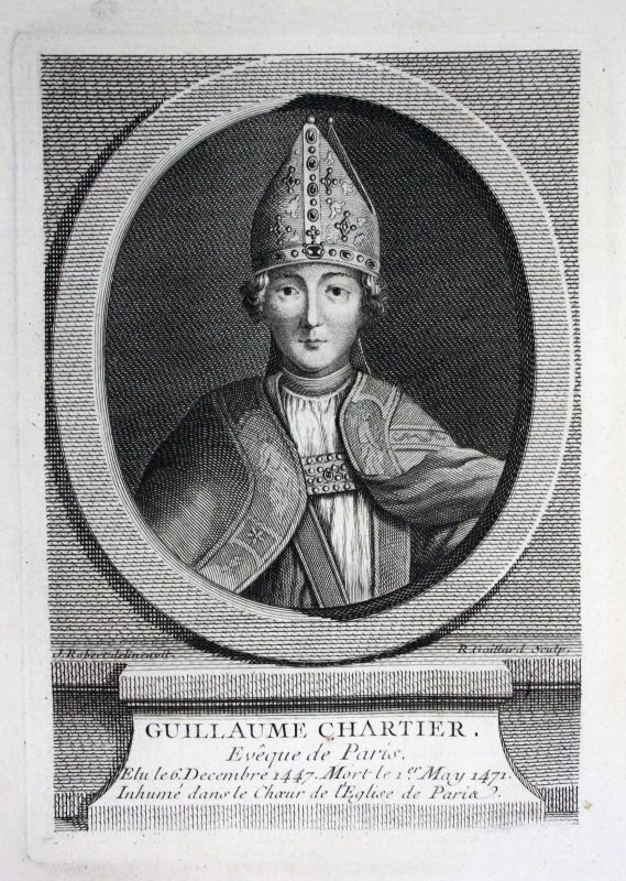 18. Jh. Guillaume Chartier Bischof bishop eveque Paris Prälat prelat Portrait