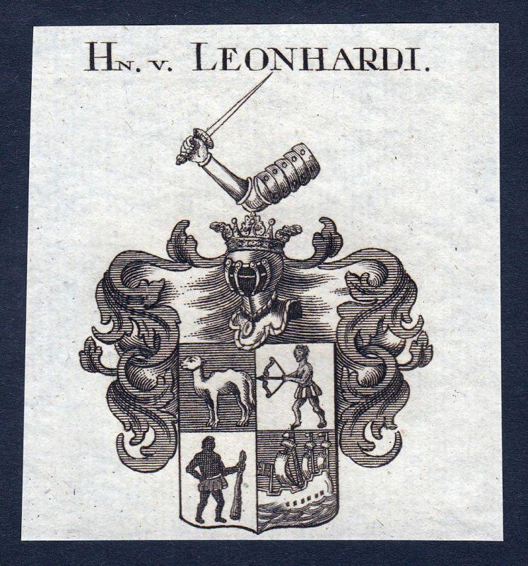 1820 Leonhardi Hessen Wappen Adel coat of arms Heraldik Kupferstich engra 142945