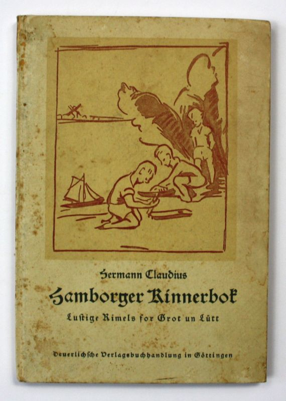 1920 Hermann Claudius Hamborger Kinnerbok Mundart Hamburg Dialekt Kinderbuch