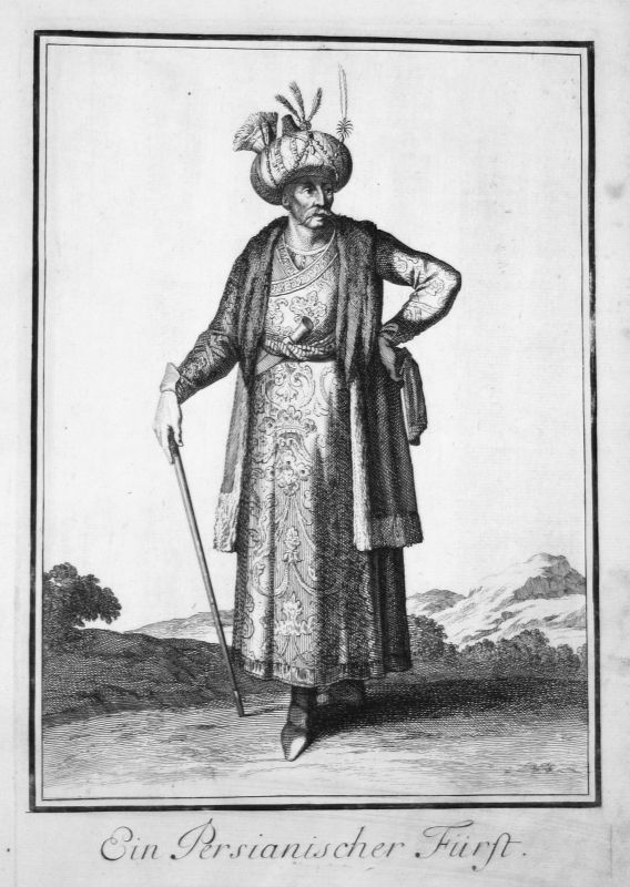 1703 Persien Persia Iran Trachten costumes Kupferstich antique print Sta Clara