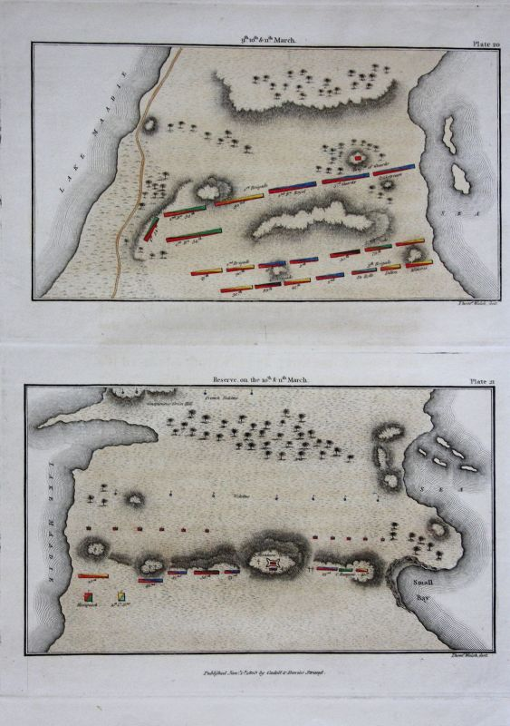 Alexandria Egypt Ägypten Afrika Karte map Kupferstich antique print 1803