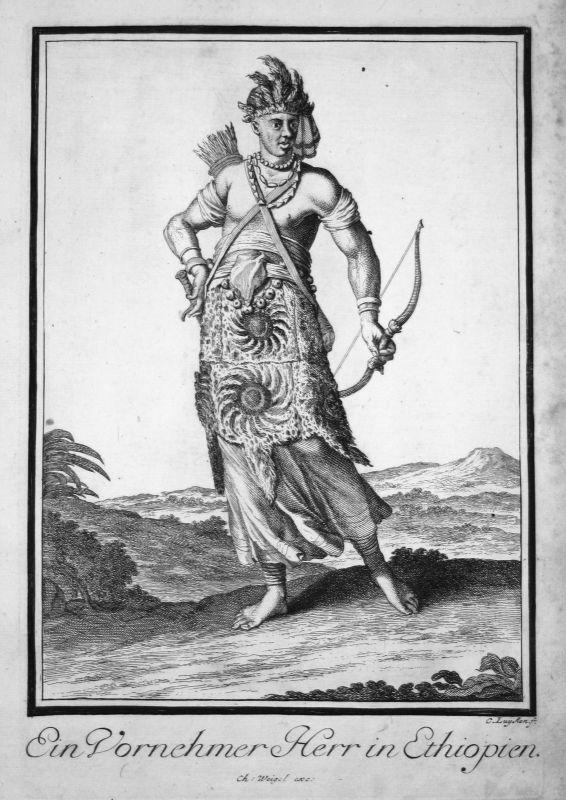 1703 Äthiopien Ethiopia Africa costume Kupferstich antique print Sancta Clara