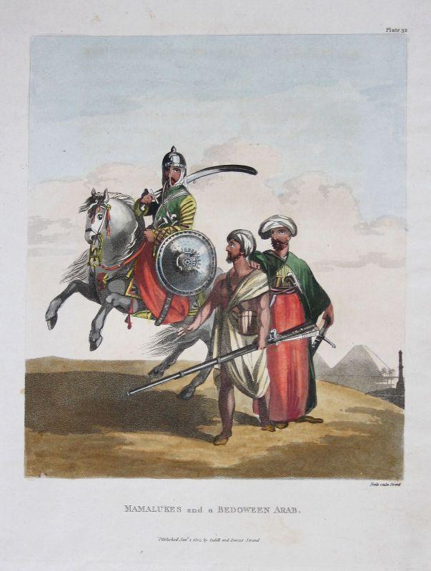 Mamelukes Bedouin Bedu Araber arabs Orient Trachten costumes Kupferstich 1803