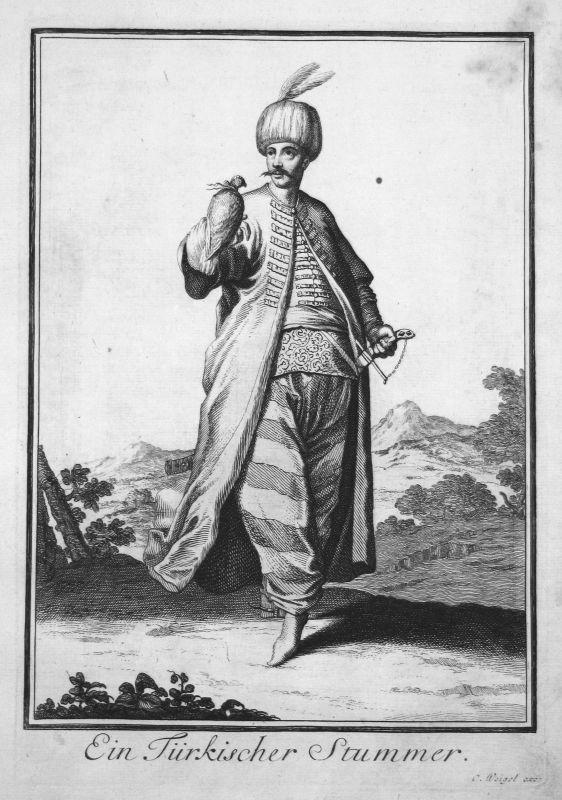 1703 Turkey Türkei Trachten costumes Kupferstich antique print a Sancta Clara
