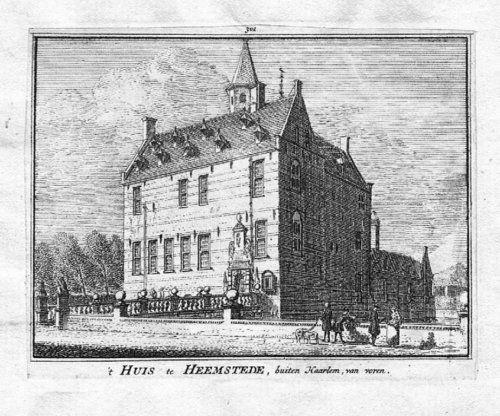 1750 - Heemstede Zuid-Kennemerland Holland Kupferstichengraving gravure