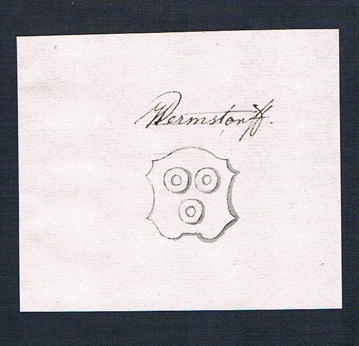 18. Jh. Wermsdorf Handschrift Manuskript Wappen manuscript coat of arms