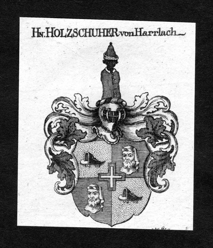 1820 - Holzschuher von Harrlach Wappen Adel coat of arms heraldry Heraldi 125933
