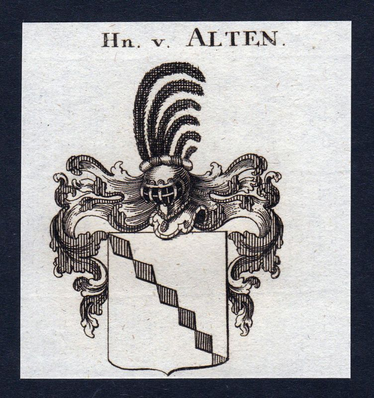 Ca. 1820 Alten Wappen Adel coat of arms Kupferstich antique print heraldr 143763