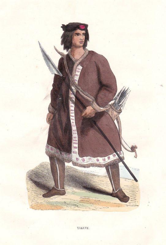 1840 Yakuts Jakuten Russland Russia Asia Asien Tracht costume Grafik