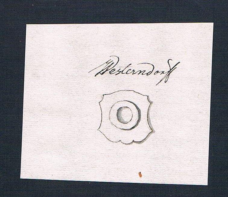 18. Jh. Westendorf Handschrift Manuskript Wappen manuscript coat of arms