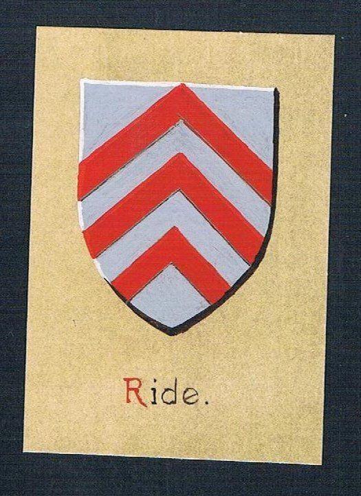 19./20. Jh. - Ride Blason Aquarelle heraldique Heraldik coat of arms