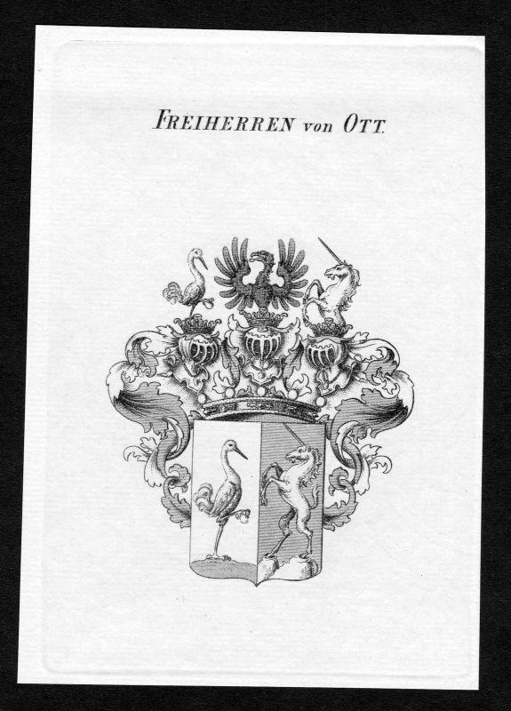 1820 - Ott Wappen Adel coat of arms heraldry Heraldik Kupferstich