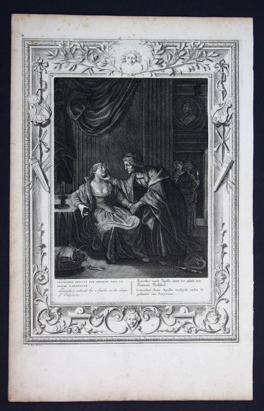 1730 Leucothea Eurynome Apollo Greek Mythologie mythology Kupferstich engraving
