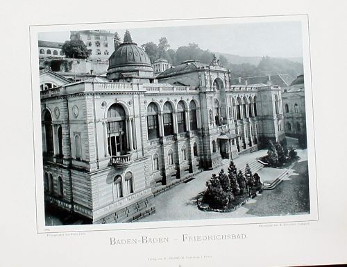 1896 - Baden-Baden Friedrichsbad Original Fotografie Foto photo