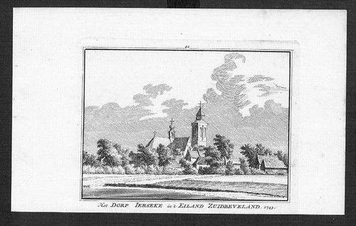 1750 - Yerseke Reimerswaal Zuid-Beveland Kupferstich Holland gravure
