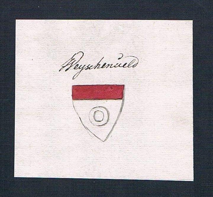 18. Jh. Waischenfeld Wappen Handschrift Manuskript manuscript coat of arms