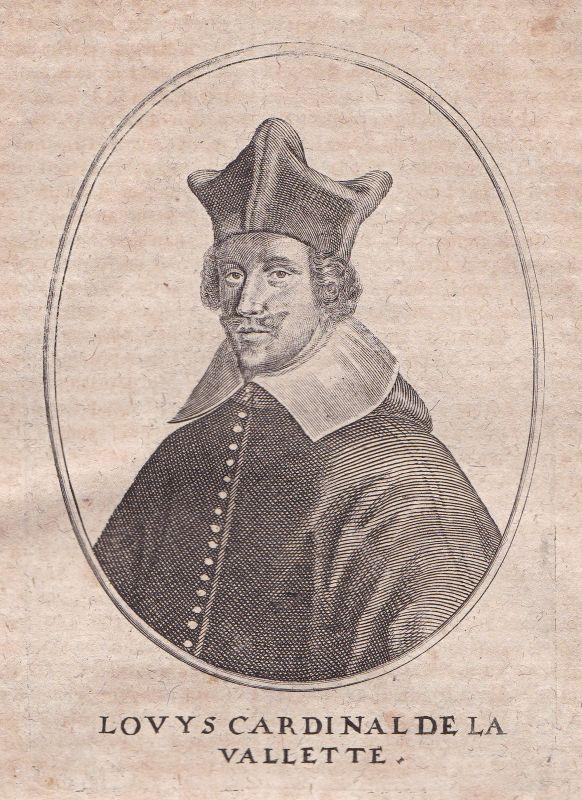 1650 Louis de Nogaret de La Valette Portrait Kupferstich antique print Merian