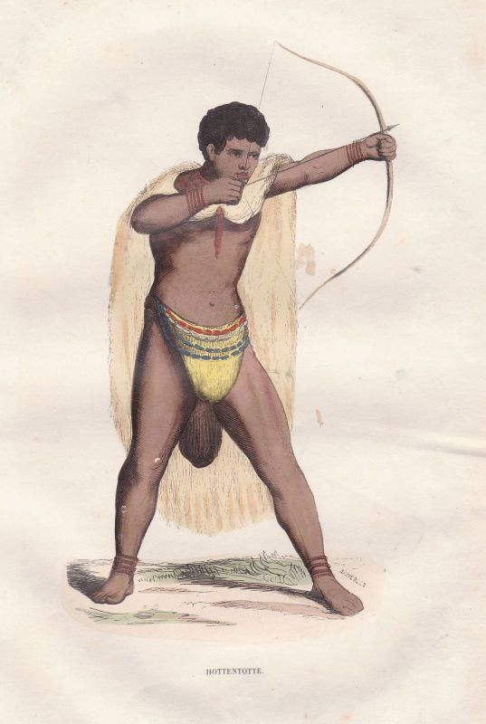 Hottentotten Afrika Africa Namibia Khoikhoi Tracht Trachten costumes Grafik