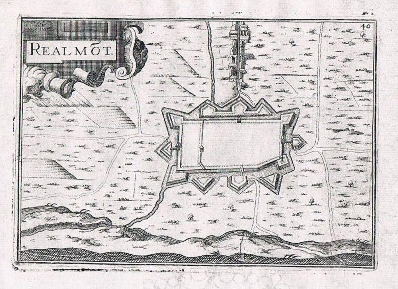1660 - Realmont Midi-Pyrenees Albi Tarn gravure Original Kupferstich Tassin