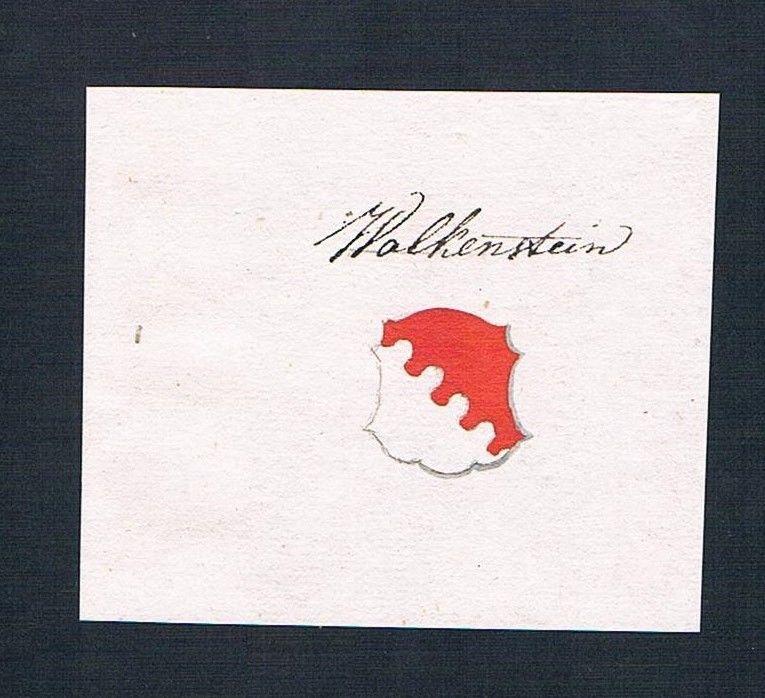 18. Jh. Wolkenstein Adel Handschrift Manuskript Wappen manuscript coat of arms