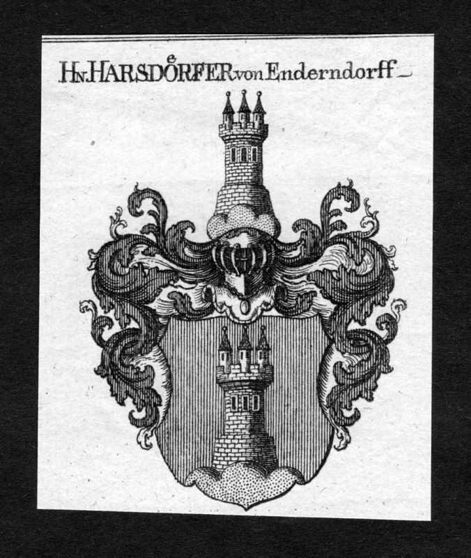1820 - Harsdörfer Harsdorf von Enderndorf Wappen Adel coat of arms Heraldik