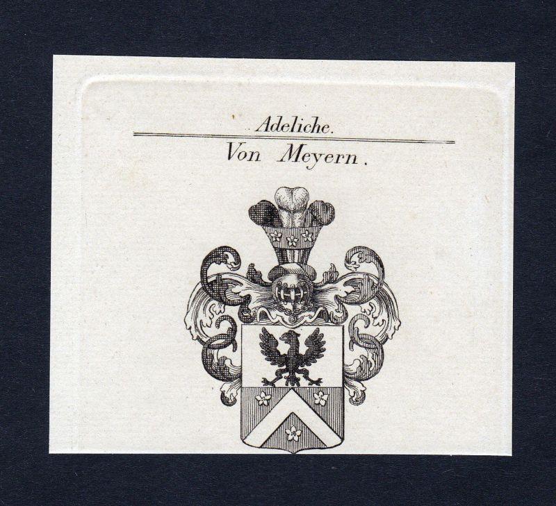 Ca. 1820 Meyern-Hohenberg Wappen Adel coat of arms Kupferstich antique pr 134165