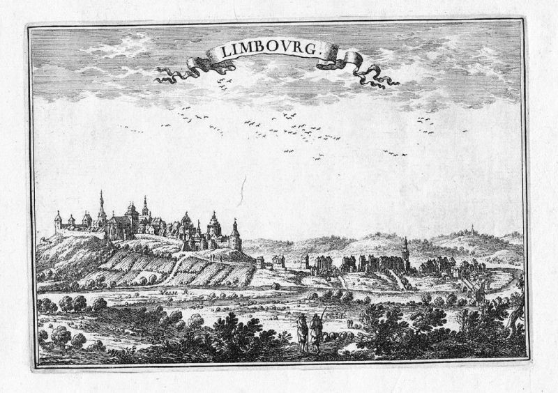 1680 - Limbourg view estampe gravure Beaulieu vue engraving Kupferstich