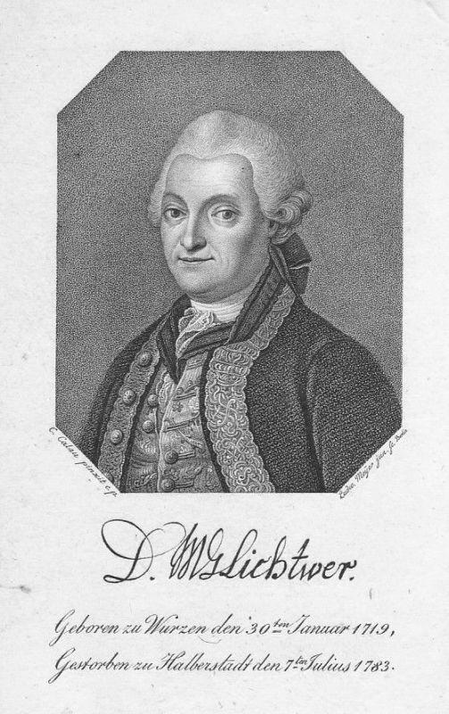 18. Jh Magnus Gottfried Lichtwer Jurist Portrait Kupferstich antique print Meyer