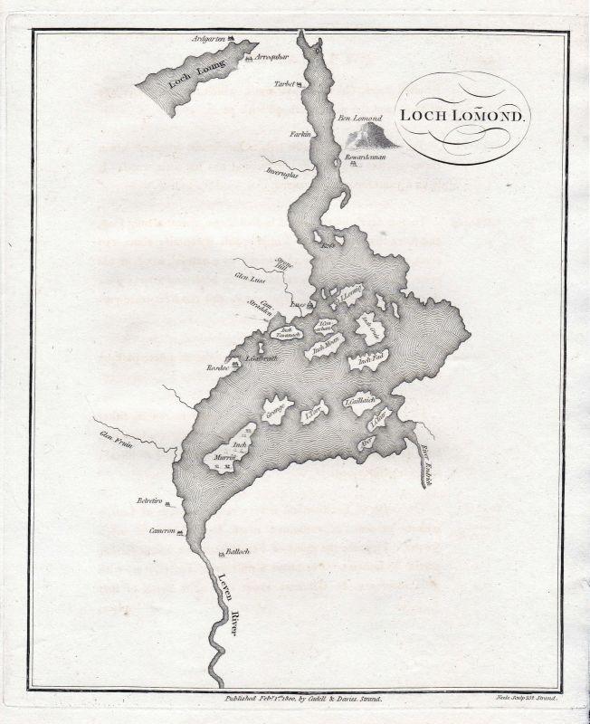 Scotland Schottland See sea Great Britain England Kupferstich engraving