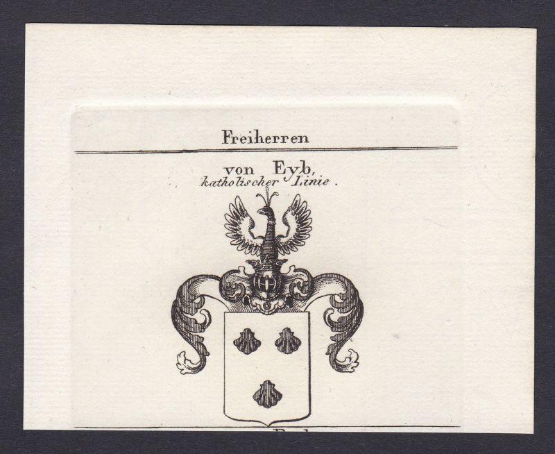 Eyb Franken Eib Wappen Adel coat of arms Heraldik Kupferstich antique print
