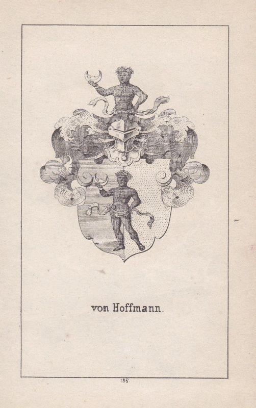 Ca. 1840 Hofmann Hoffmann Wappen heraldry Heraldik coat of arms Adel