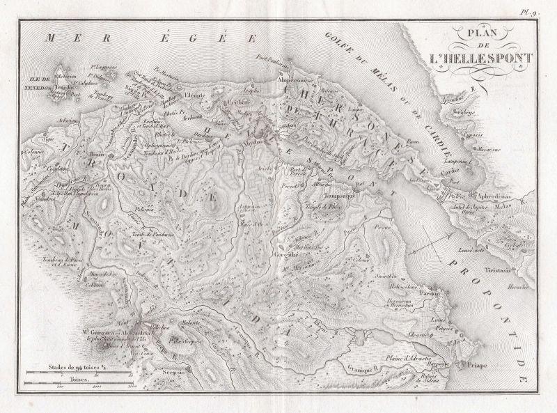 Dardanelles Map on