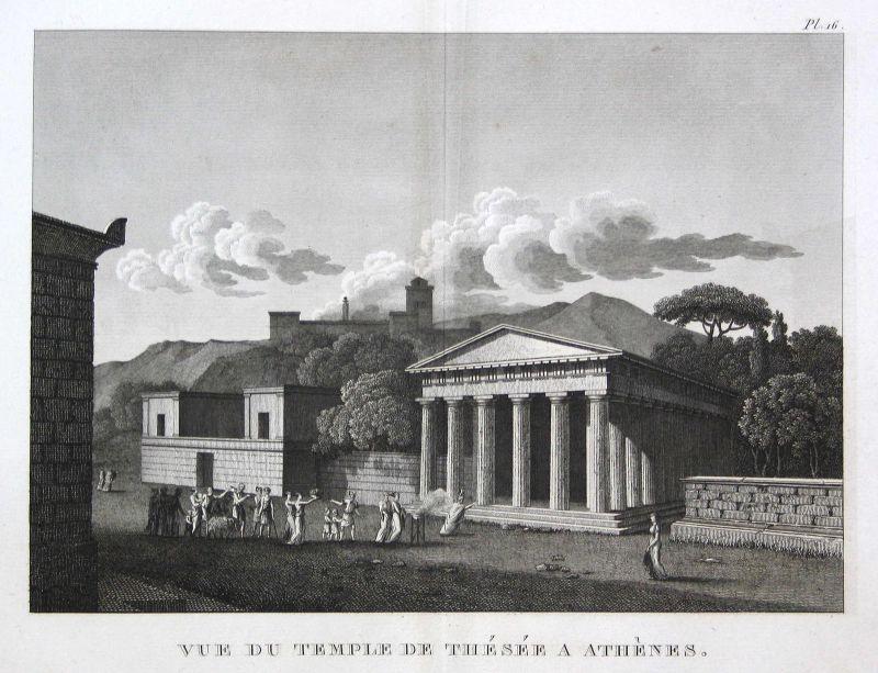 1820 Hephaistos Athen Athens Tempel temple Greece Griechenland view Kupferstich
