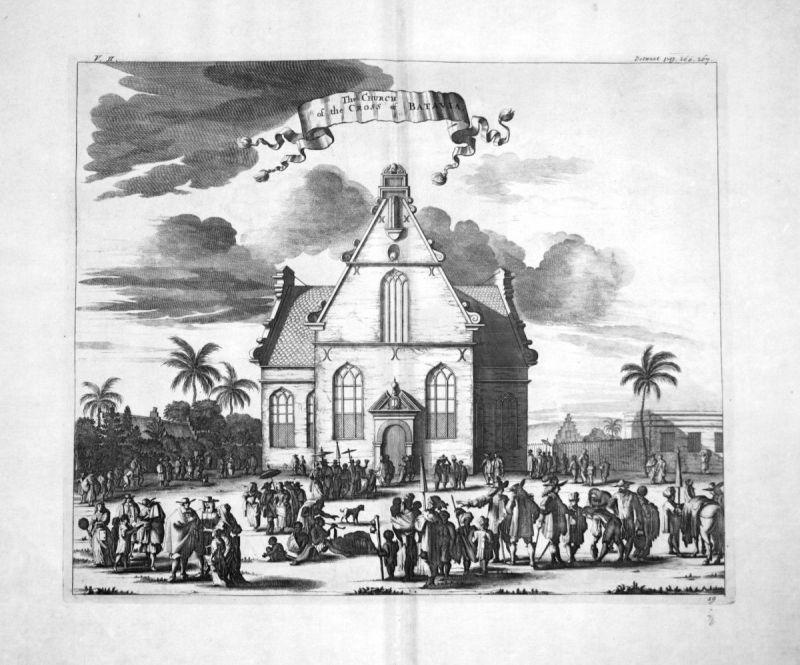 1730 Batavia Jakarta Java Indonesia Kupferstich engraving Churchill 108661
