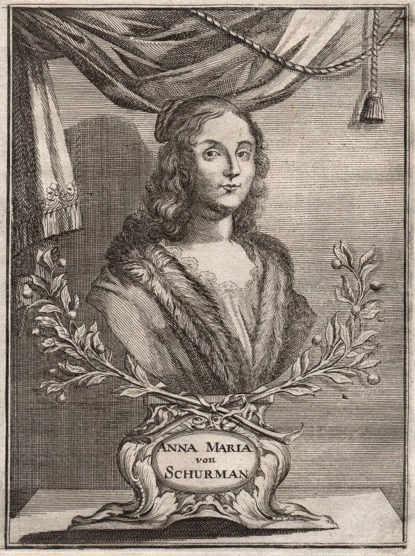 Anna Maria von Schürmann Niederlande Portrait Maler Kupferstich ca. 1690