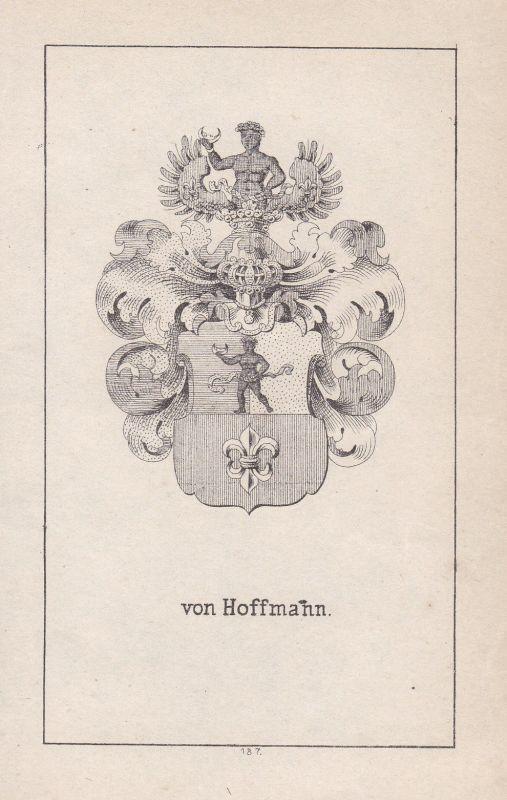 Ca. 1840 Hoffmann Hofmann Wappen heraldry Heraldik coat of arms Adel