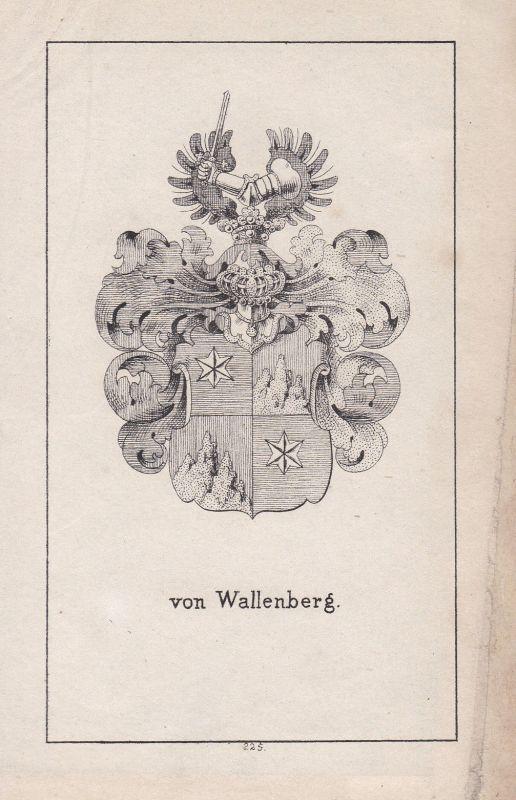 Ca. 1840 Wallenberg Schweden Sverige Wappen heraldry Heraldik coat of arms Adel